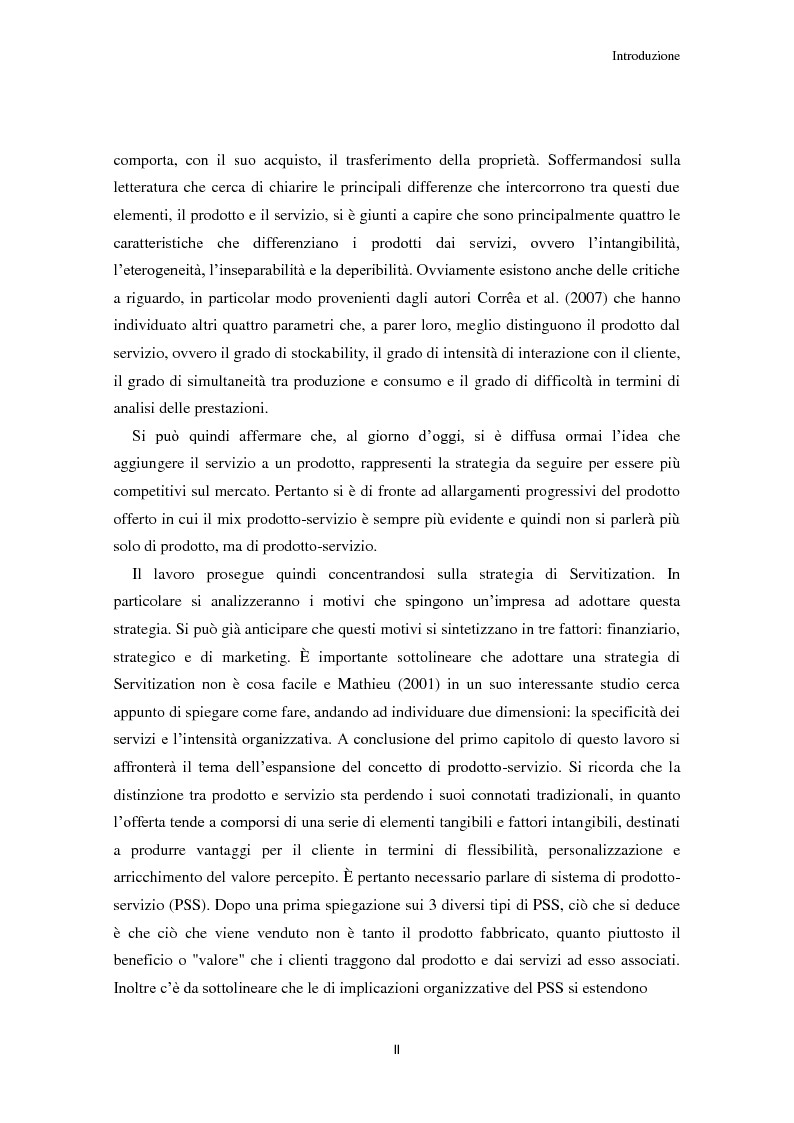 Anteprima della tesi: Valore per il cliente e riprogettazione della service-chain: un'applicazione nel settore dell'elettrodomestico bianco., Pagina 3