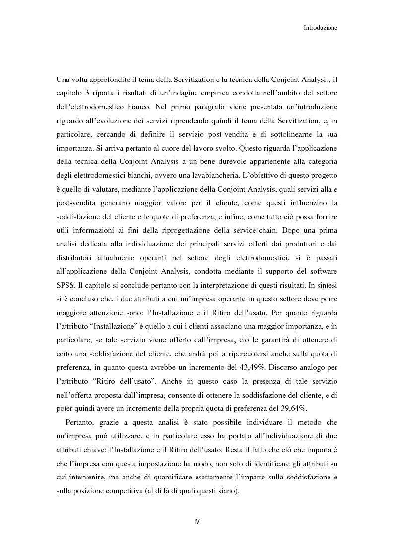 Anteprima della tesi: Valore per il cliente e riprogettazione della service-chain: un'applicazione nel settore dell'elettrodomestico bianco., Pagina 5