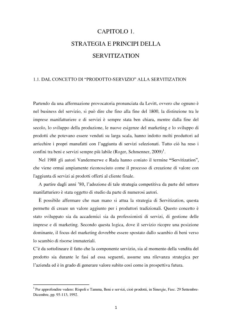 Anteprima della tesi: Valore per il cliente e riprogettazione della service-chain: un'applicazione nel settore dell'elettrodomestico bianco., Pagina 6