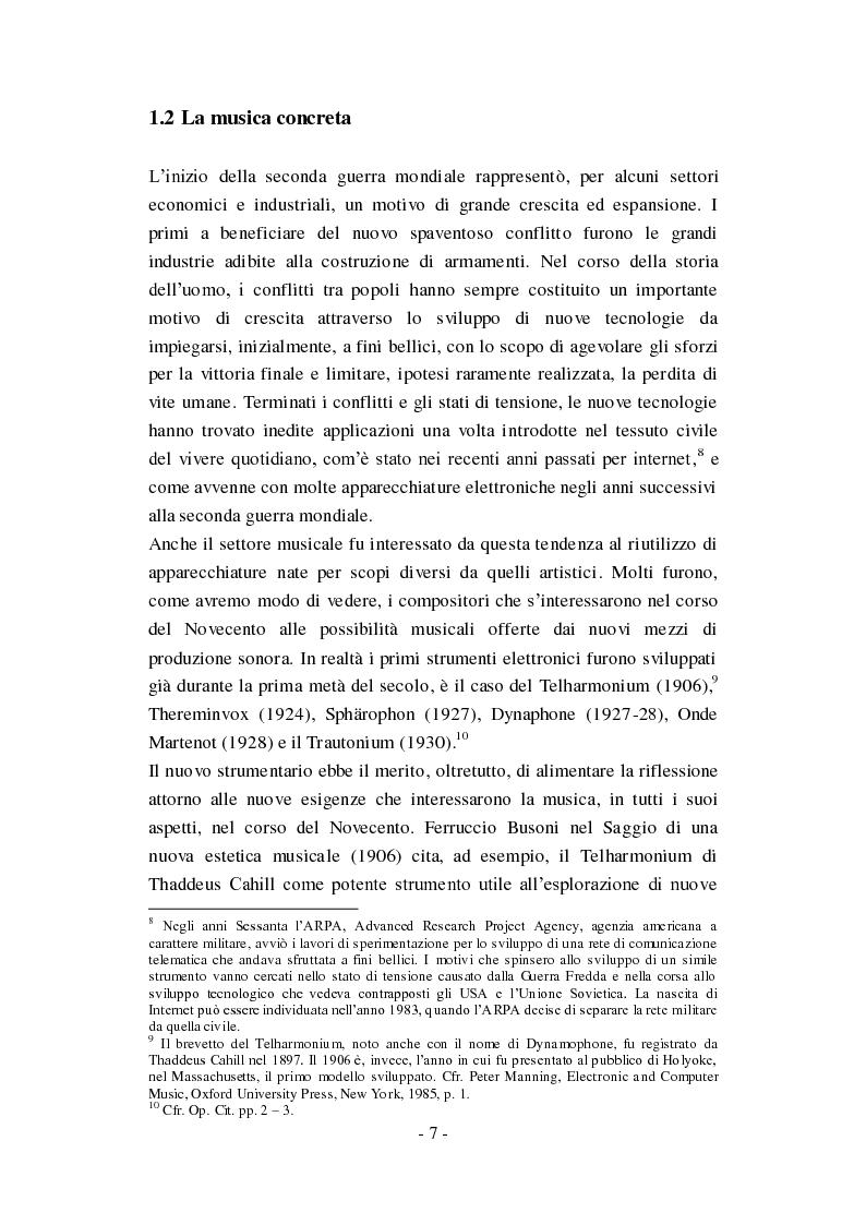 """Anteprima della tesi: Genesi, sviluppo e diffusione del software """"Music N"""" nella storia della composizione informatica., Pagina 13"""