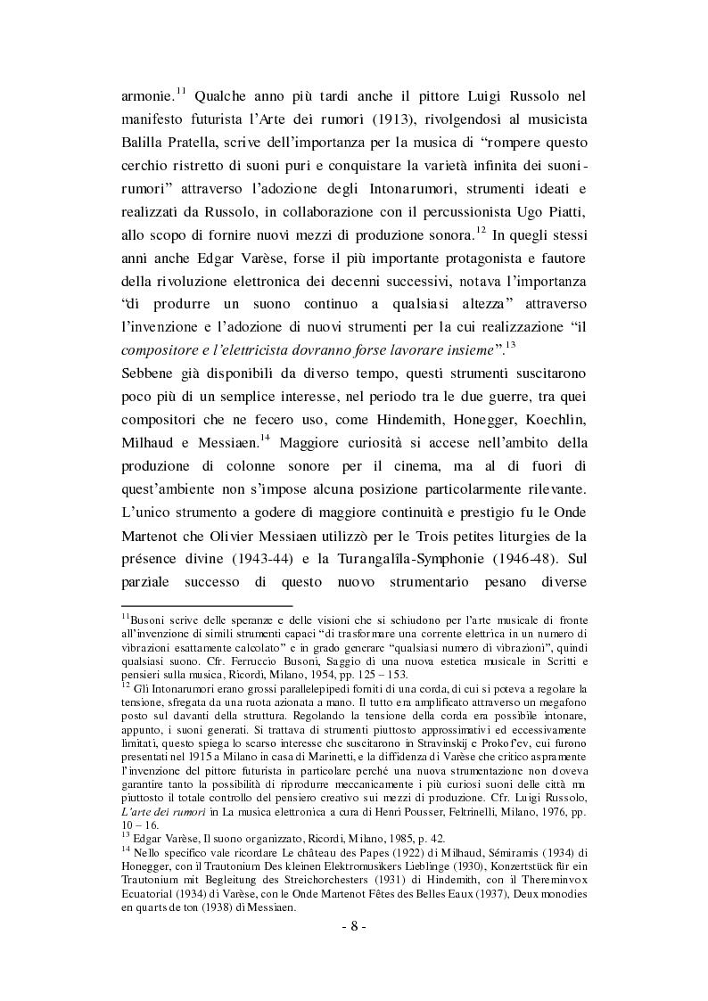 """Anteprima della tesi: Genesi, sviluppo e diffusione del software """"Music N"""" nella storia della composizione informatica., Pagina 14"""