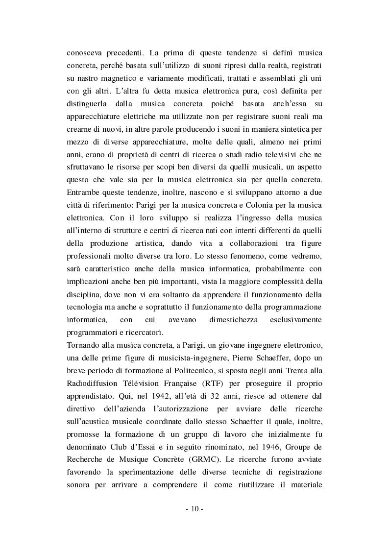 """Anteprima della tesi: Genesi, sviluppo e diffusione del software """"Music N"""" nella storia della composizione informatica., Pagina 16"""