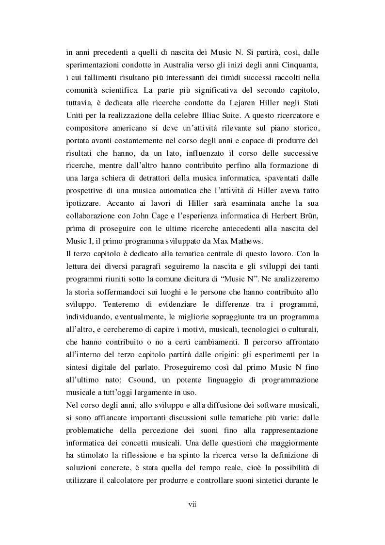 """Anteprima della tesi: Genesi, sviluppo e diffusione del software """"Music N"""" nella storia della composizione informatica., Pagina 4"""