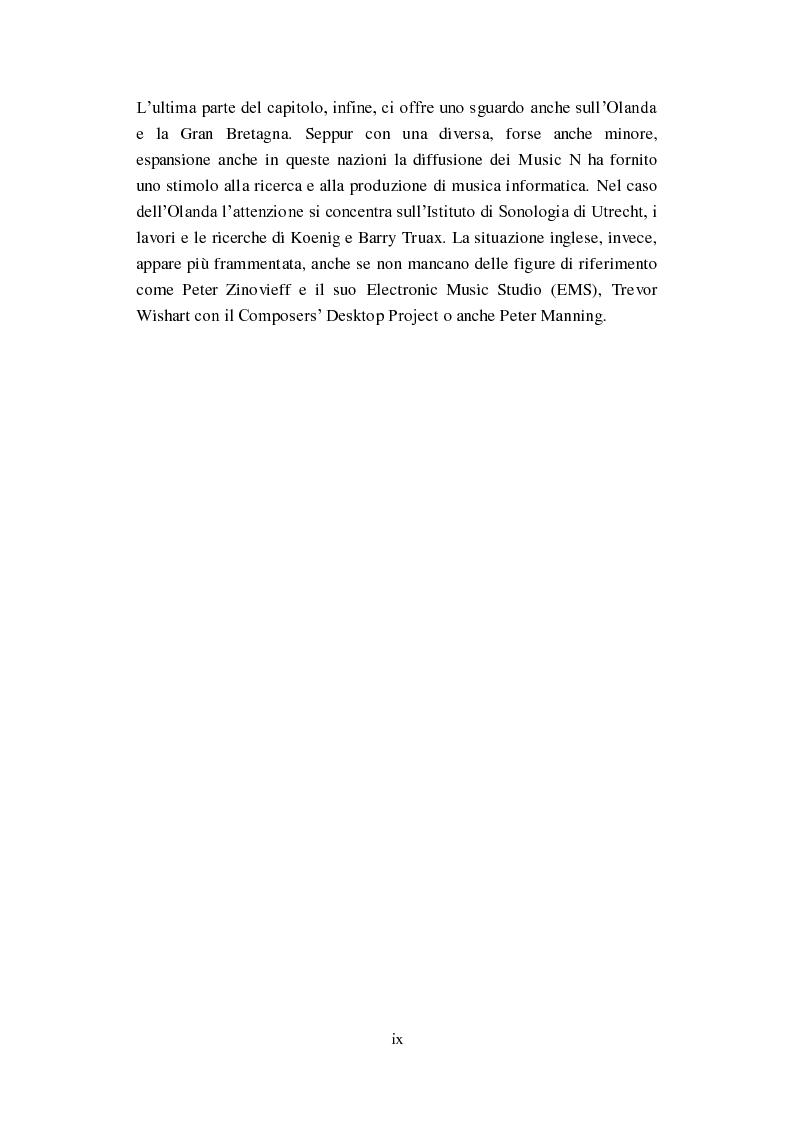 """Anteprima della tesi: Genesi, sviluppo e diffusione del software """"Music N"""" nella storia della composizione informatica., Pagina 6"""