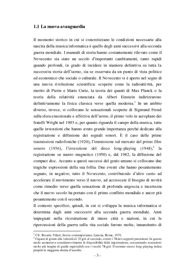 """Anteprima della tesi: Genesi, sviluppo e diffusione del software """"Music N"""" nella storia della composizione informatica., Pagina 9"""