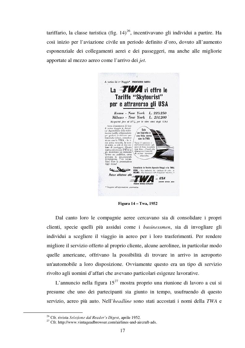 Anteprima della tesi: La comunicazione pubblicitaria delle compagnie aeree. Il caso Alitalia, Pagina 14