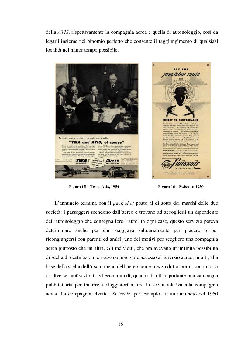 Anteprima della tesi: La comunicazione pubblicitaria delle compagnie aeree. Il caso Alitalia, Pagina 15