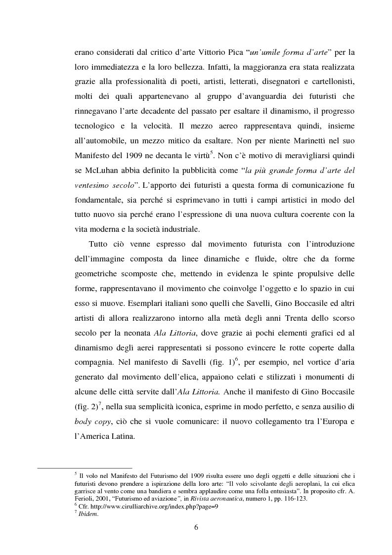 Anteprima della tesi: La comunicazione pubblicitaria delle compagnie aeree. Il caso Alitalia, Pagina 3