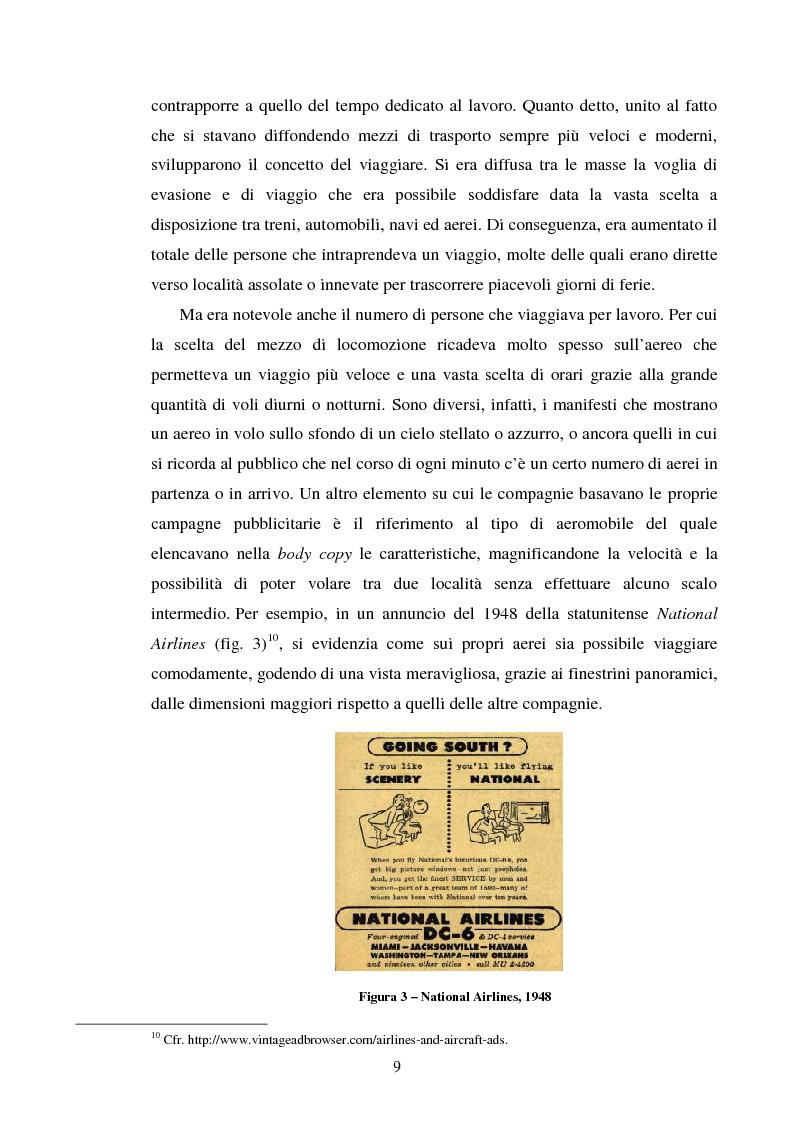 Anteprima della tesi: La comunicazione pubblicitaria delle compagnie aeree. Il caso Alitalia, Pagina 6
