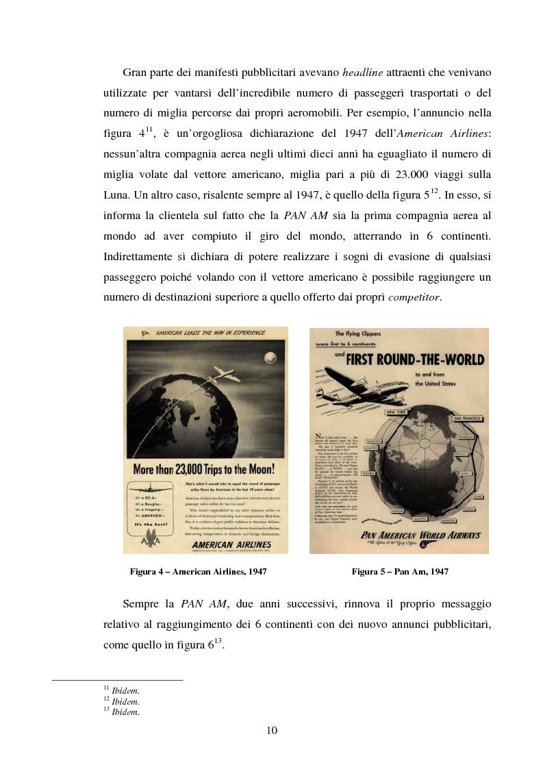 Anteprima della tesi: La comunicazione pubblicitaria delle compagnie aeree. Il caso Alitalia, Pagina 7