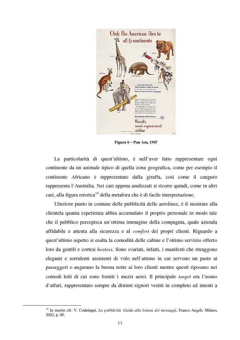 Anteprima della tesi: La comunicazione pubblicitaria delle compagnie aeree. Il caso Alitalia, Pagina 8