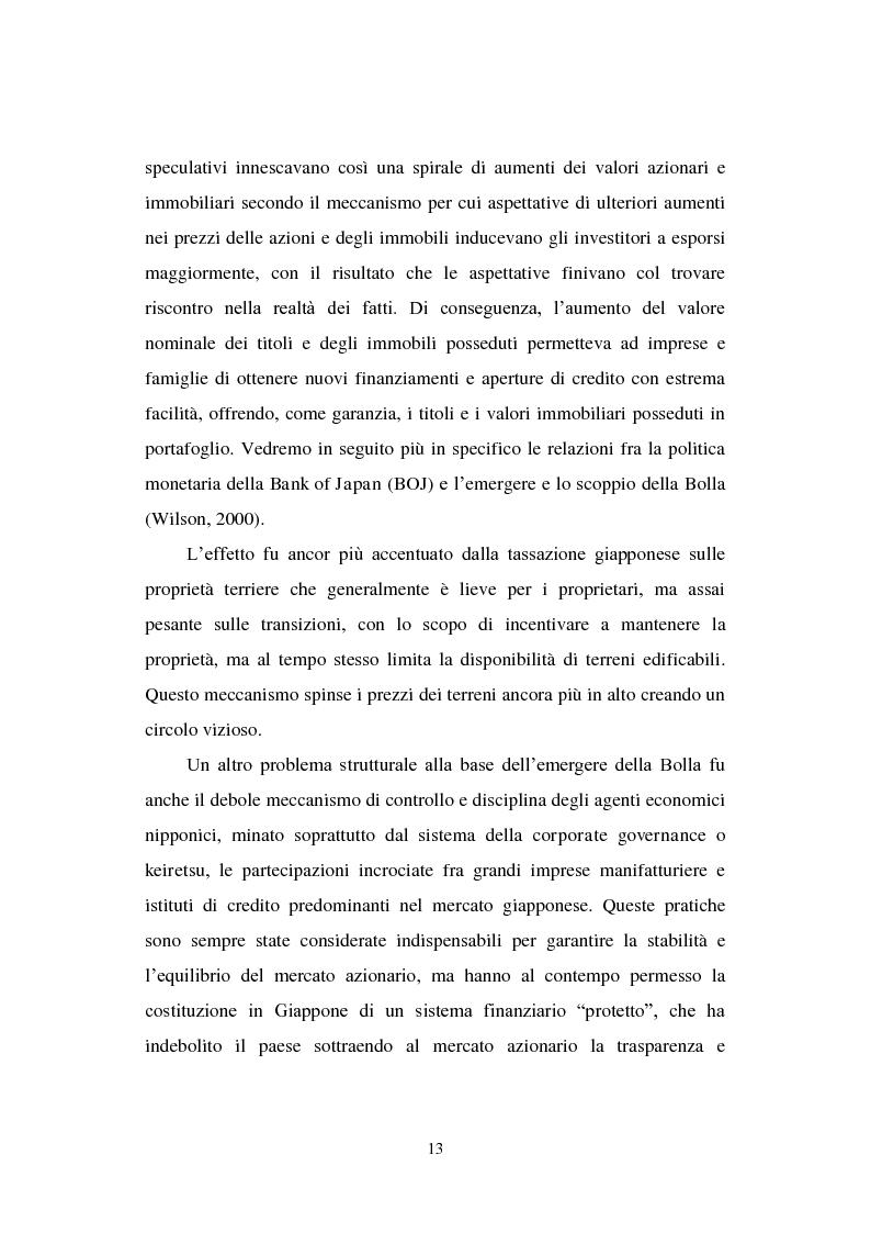 Anteprima della tesi: Le politiche economiche e l'attualità della crisi economica giapponese degli anni '90, Pagina 8