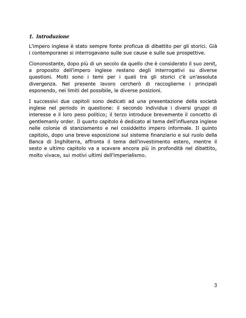 Anteprima della tesi: Il Dibattito su sistema finanziario, politica imperiale e colonialismo inglese, 1870 – 1914, Pagina 2