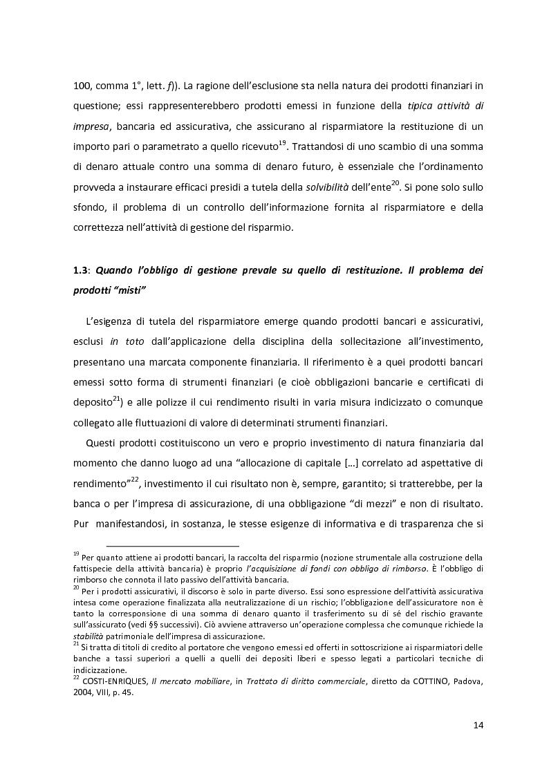 Anteprima della tesi: I prodotti assicurativi-finanziari, tra investimento, risparmio, previdenza. Profili giuridici, Pagina 10