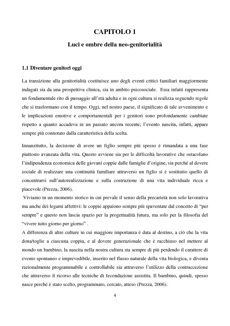 Anteprima della tesi: Il sostegno alla neo-genitorialità nei Centri per le Famiglie: l'esperienza di Spazio Cicogna, Pagina 2