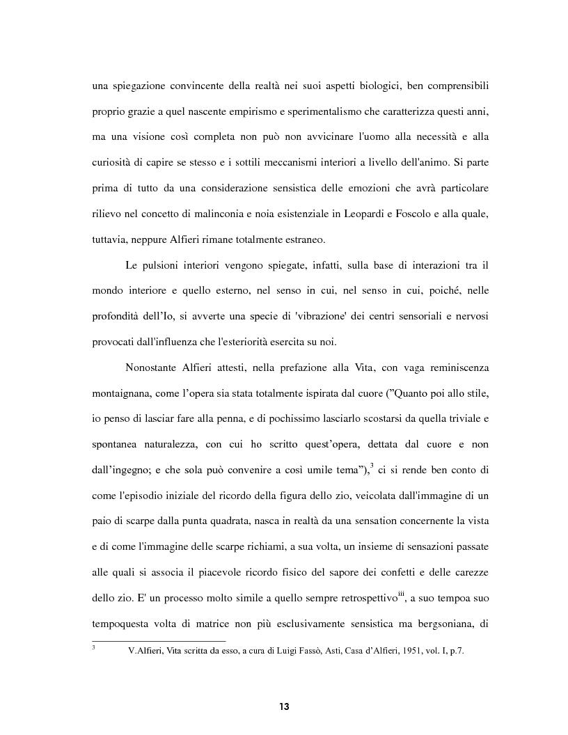 Anteprima della tesi: Le voci dell'Io. Autobiografia e automitografia nell'opera di Vittorio Alfieri, Pagina 10