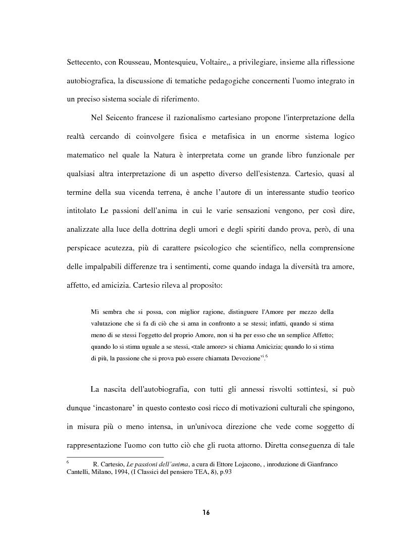 Anteprima della tesi: Le voci dell'Io. Autobiografia e automitografia nell'opera di Vittorio Alfieri, Pagina 13