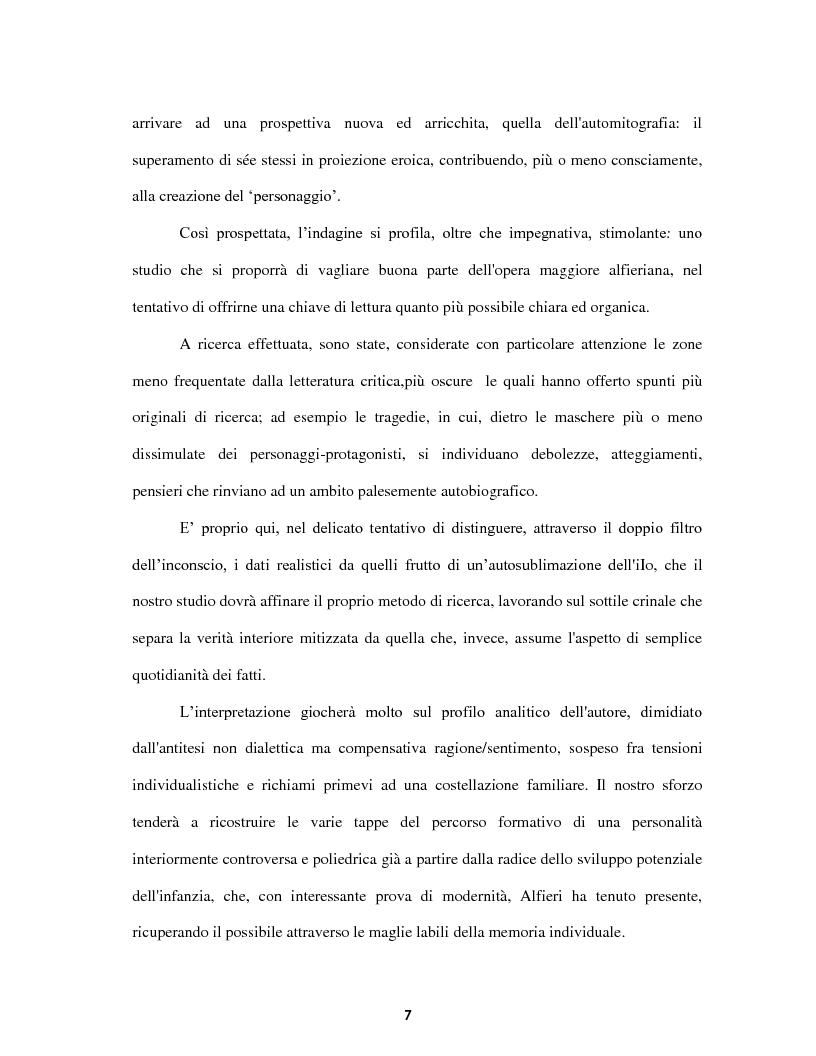 Anteprima della tesi: Le voci dell'Io. Autobiografia e automitografia nell'opera di Vittorio Alfieri, Pagina 4
