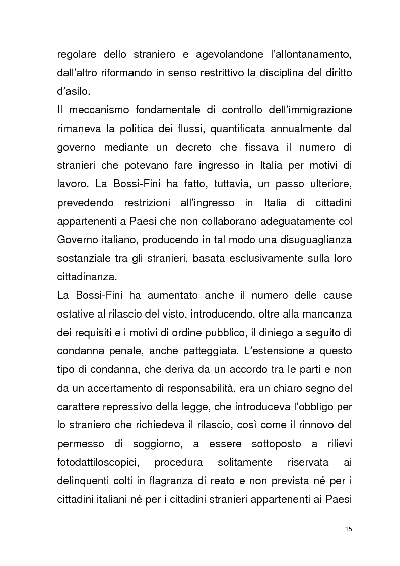 Anteprima della tesi: Diritto all'unità familiare degli stranieri in Italia, Pagina 11
