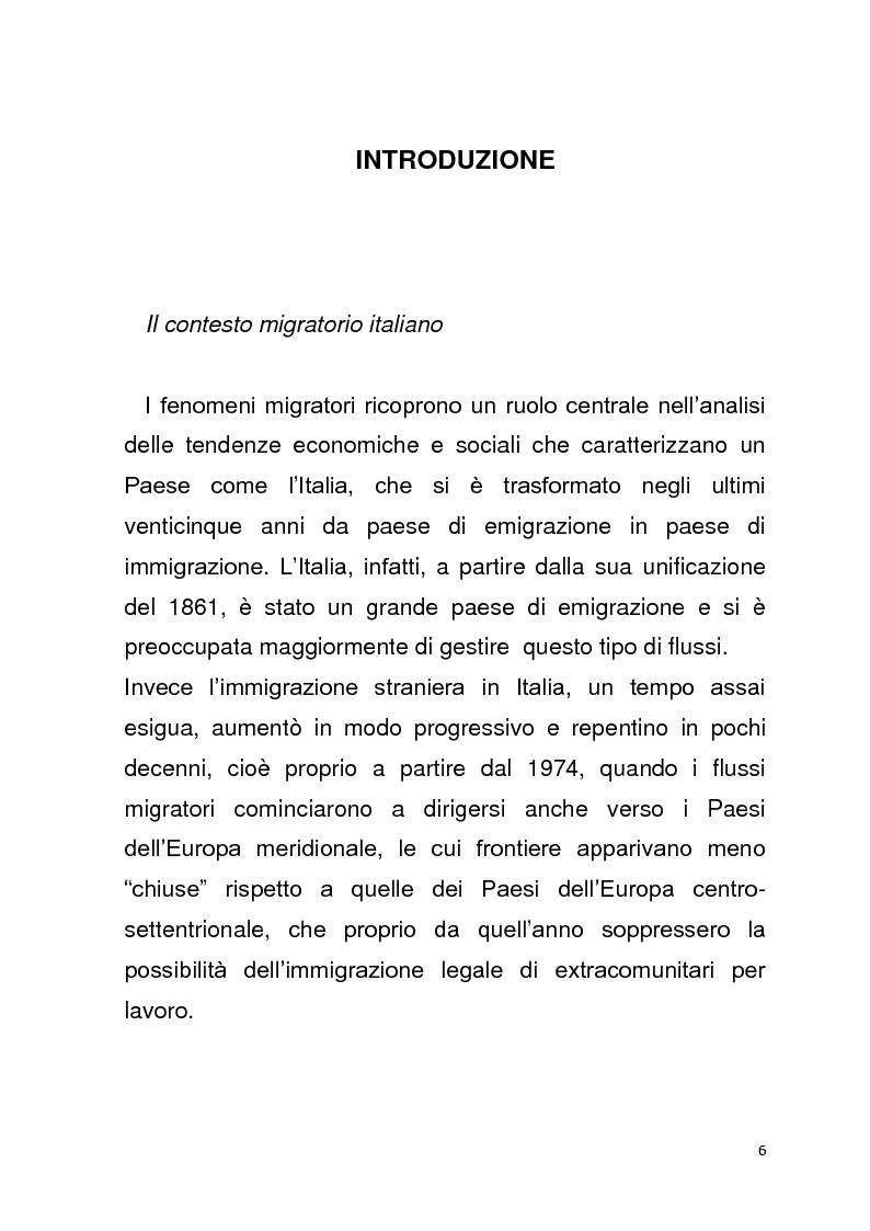 Anteprima della tesi: Diritto all'unità familiare degli stranieri in Italia, Pagina 2