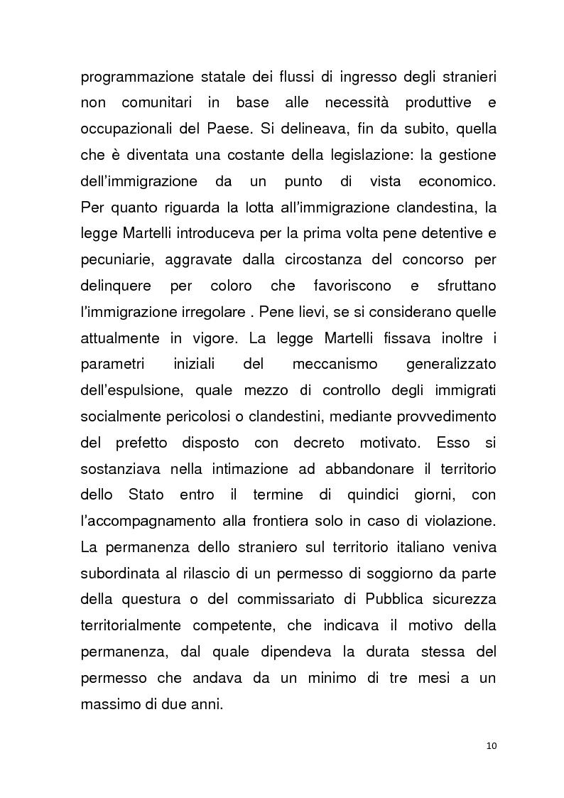 Anteprima della tesi: Diritto all'unità familiare degli stranieri in Italia, Pagina 6