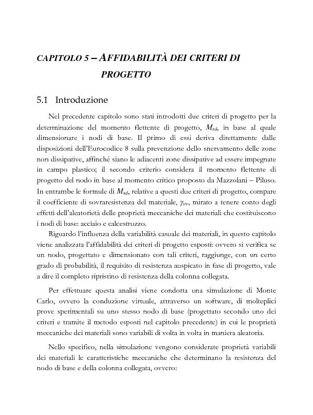 Anteprima della tesi: Influenza della variabilità dei materiali nella progettazione a completo ripristino di resistenza dei nodi di base in acciaio, Pagina 2