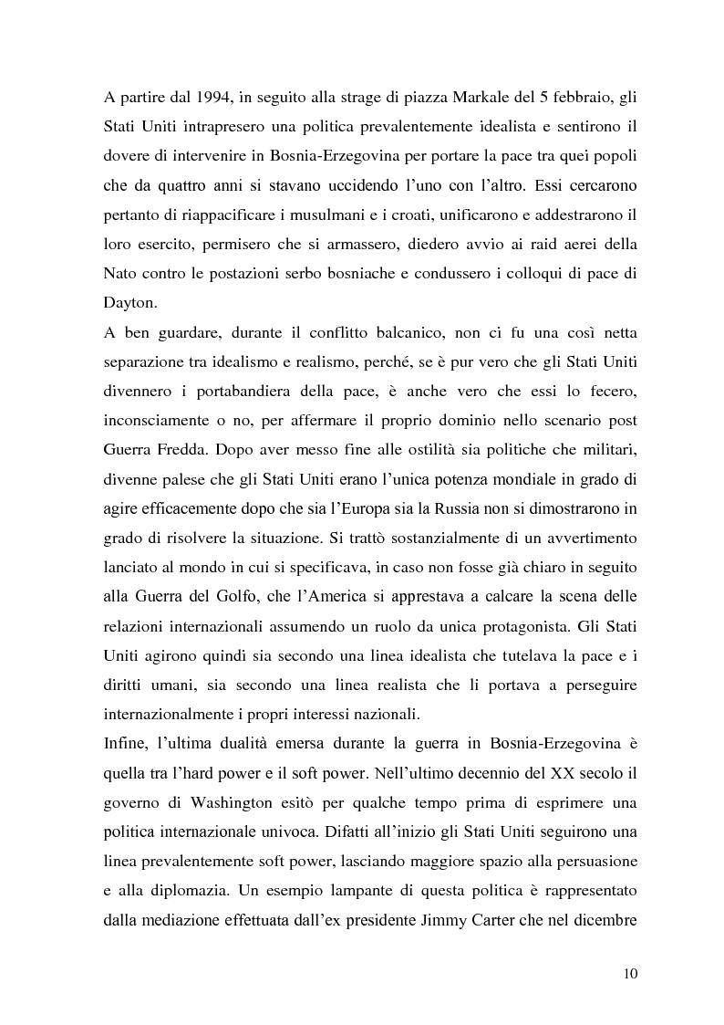 Anteprima della tesi: L'intervento statunitense in Bosnia-Erzegovina (1992-1995), Pagina 5