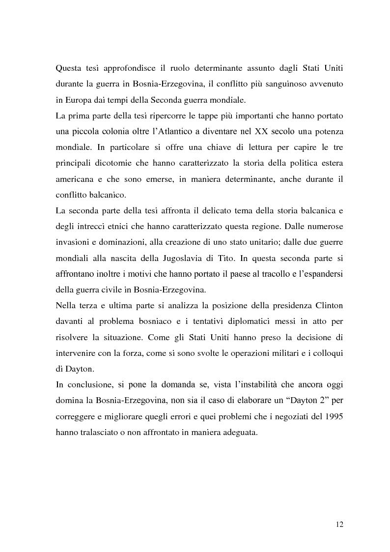 Anteprima della tesi: L'intervento statunitense in Bosnia-Erzegovina (1992-1995), Pagina 7