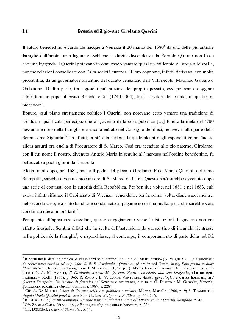 Anteprima della tesi: Erudizione e religione. Angelo Maria Querini e il respiro dell'Europa, Pagina 12
