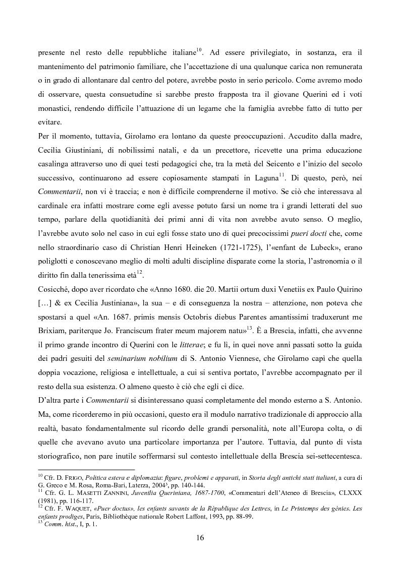 Anteprima della tesi: Erudizione e religione. Angelo Maria Querini e il respiro dell'Europa, Pagina 13