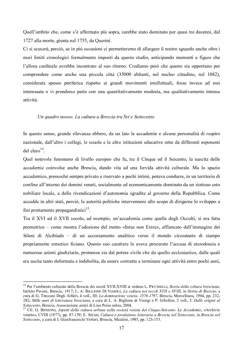 Anteprima della tesi: Erudizione e religione. Angelo Maria Querini e il respiro dell'Europa, Pagina 14