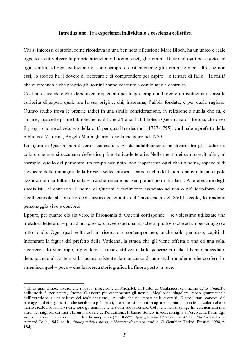 Anteprima della tesi: Erudizione e religione. Angelo Maria Querini e il respiro dell'Europa, Pagina 2