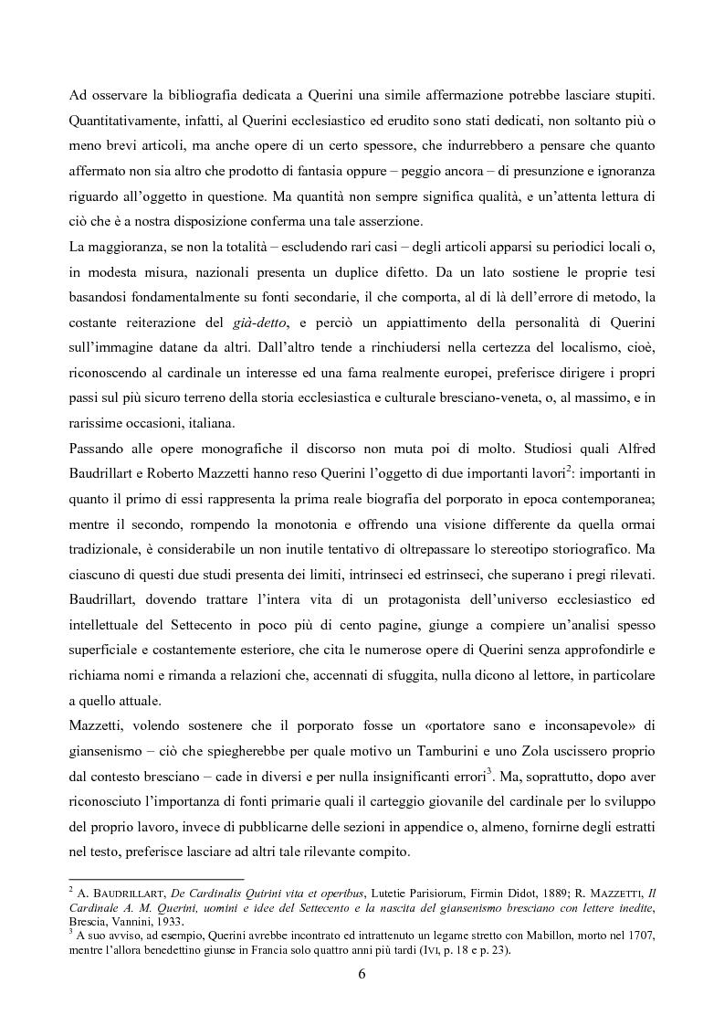 Anteprima della tesi: Erudizione e religione. Angelo Maria Querini e il respiro dell'Europa, Pagina 3