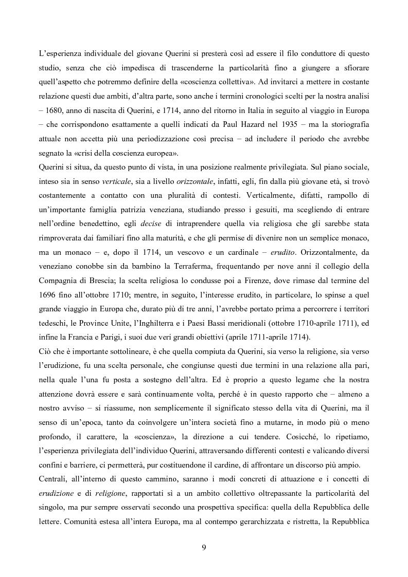 Anteprima della tesi: Erudizione e religione. Angelo Maria Querini e il respiro dell'Europa, Pagina 6