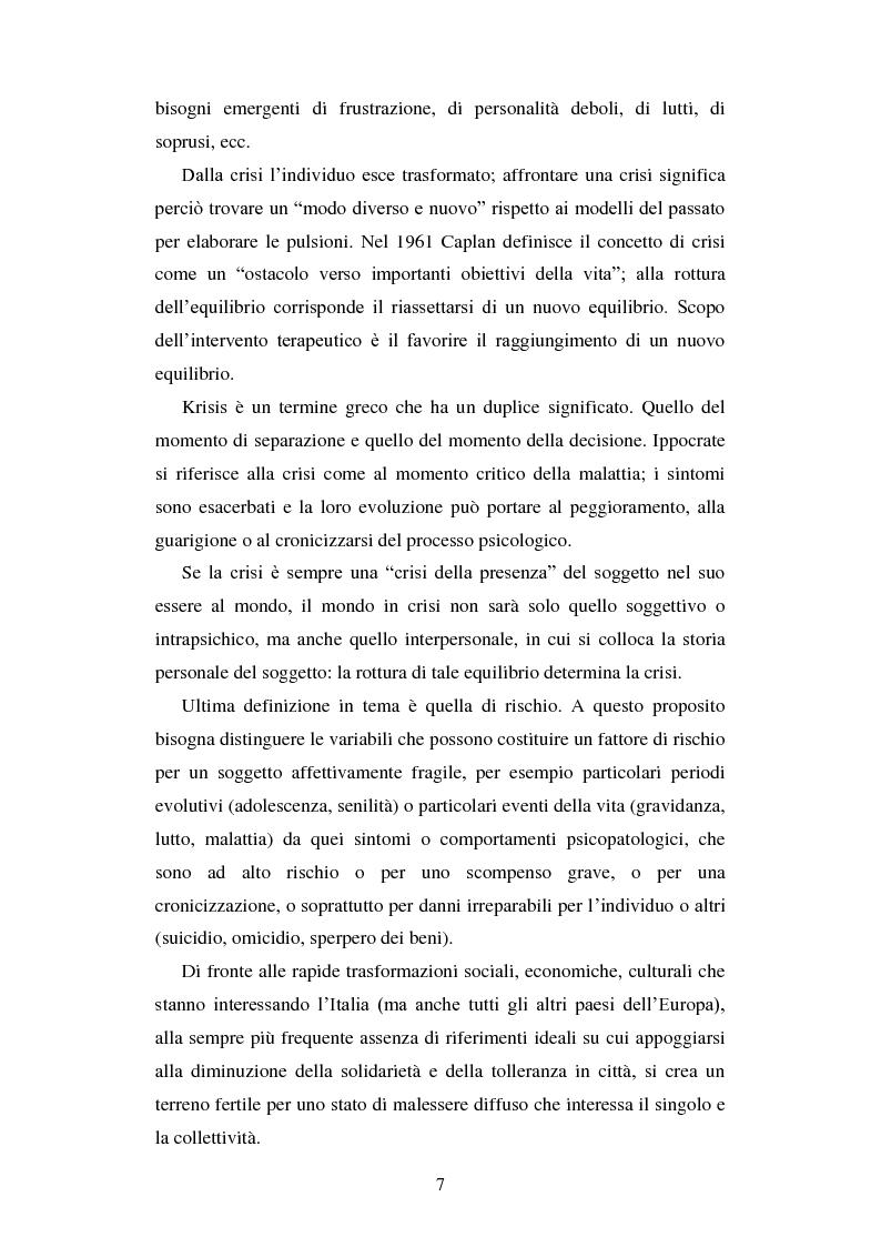 Anteprima della tesi: Le urgenze in psichiatria. Un'esperienza clinica basata sulla valutazione dei patterns dell'aggressività e della gestione del comportamento aggressivo in urgenza, presso il S.P.D.C. Ottonello., Pagina 5