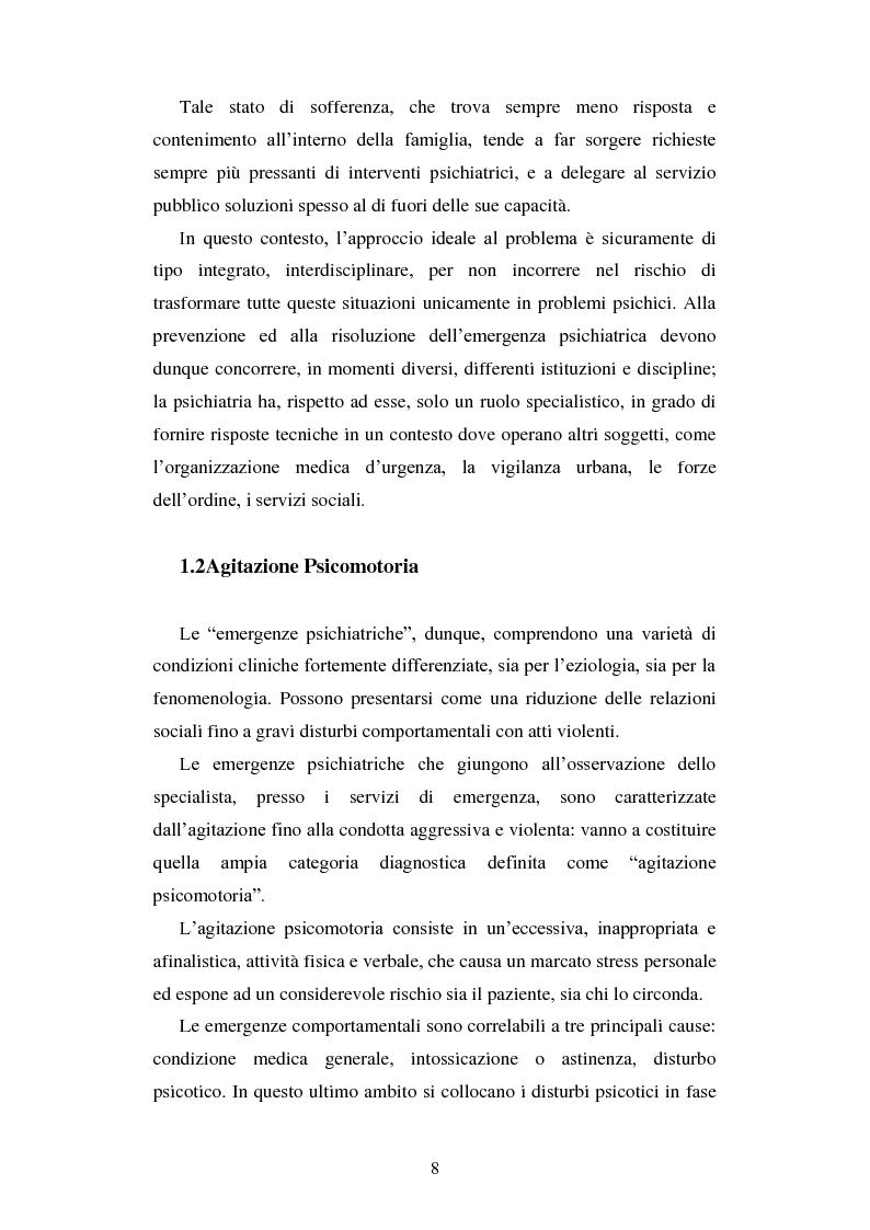 Anteprima della tesi: Le urgenze in psichiatria. Un'esperienza clinica basata sulla valutazione dei patterns dell'aggressività e della gestione del comportamento aggressivo in urgenza, presso il S.P.D.C. Ottonello., Pagina 6