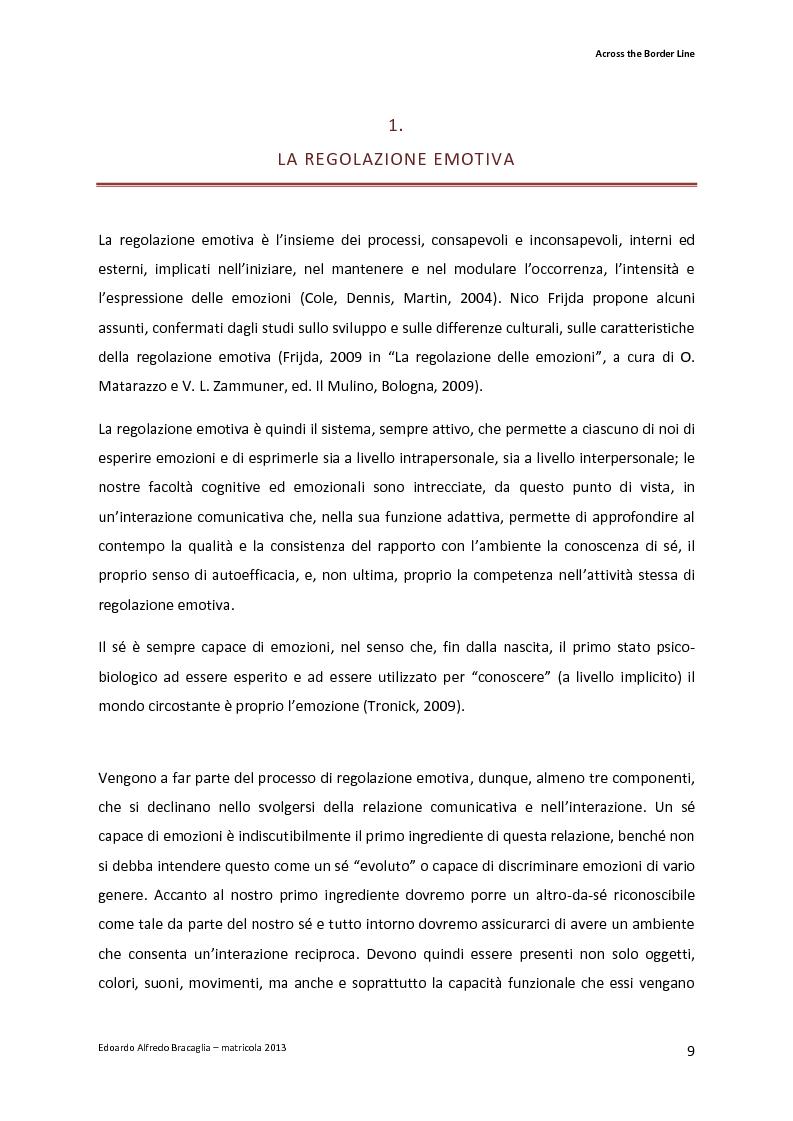 Anteprima della tesi: Across the Border Line. Teoria della mente e rischio psicopatologico in adolescenza: un contributo di ricerca, Pagina 6