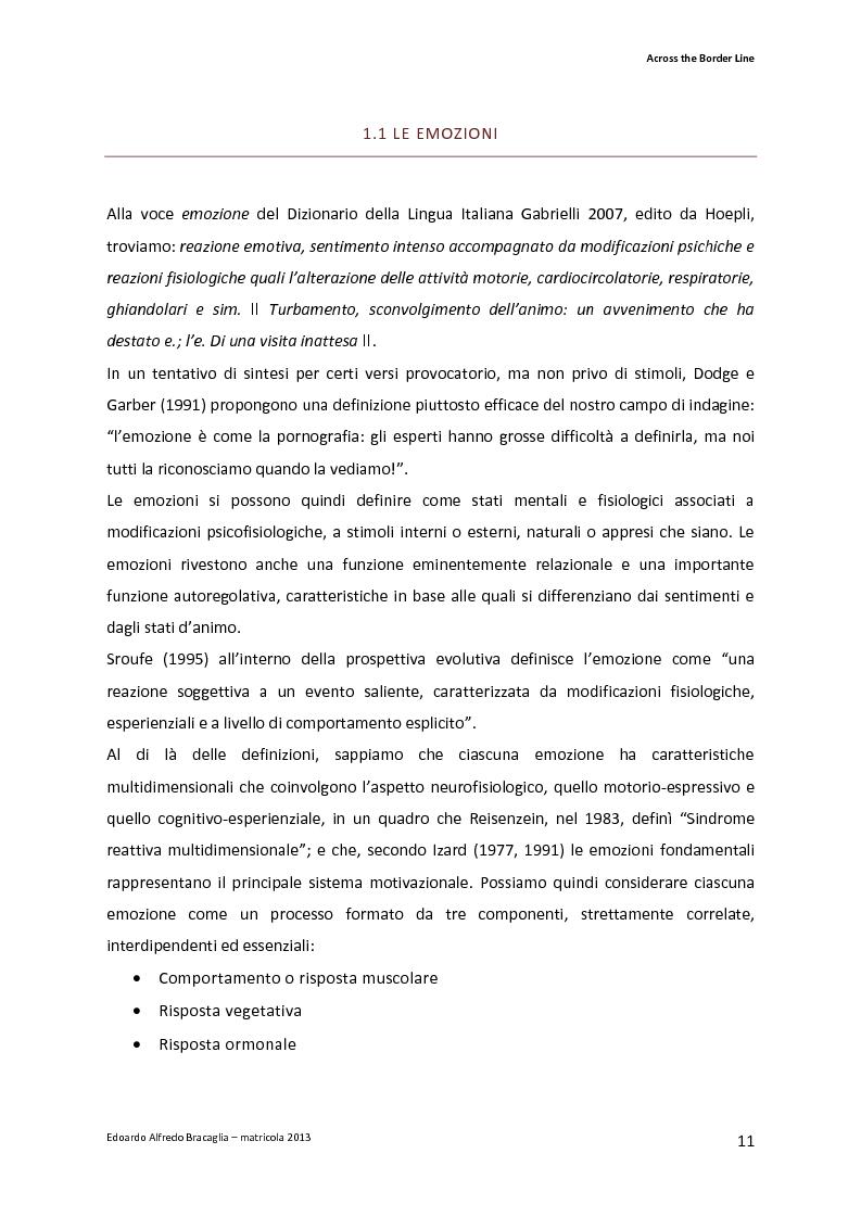 Anteprima della tesi: Across the Border Line. Teoria della mente e rischio psicopatologico in adolescenza: un contributo di ricerca, Pagina 8