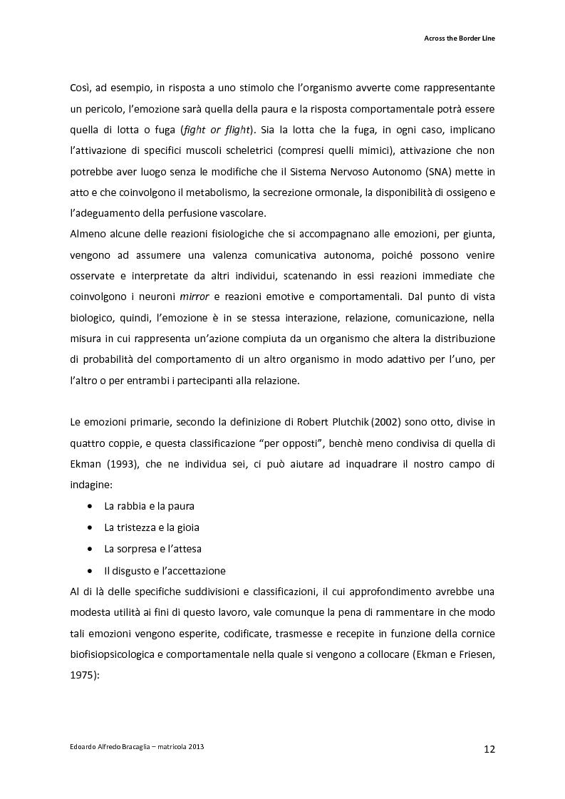Anteprima della tesi: Across the Border Line. Teoria della mente e rischio psicopatologico in adolescenza: un contributo di ricerca, Pagina 9
