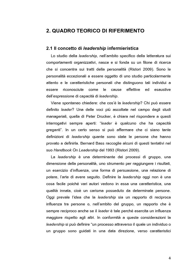 Anteprima della tesi: L'Intelligenza Emotiva come strumento per una leadership infermieristica d'eccellenza, Pagina 5