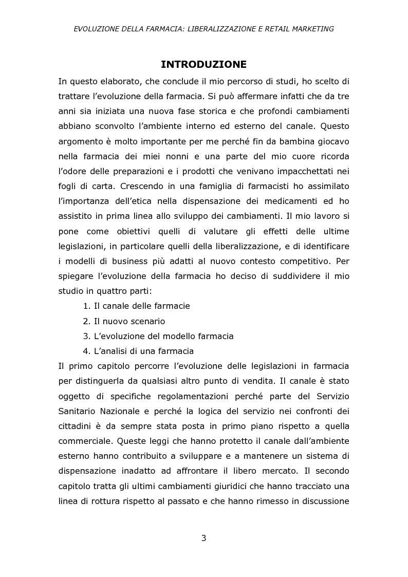 Anteprima della tesi: Evoluzione della farmacia: liberalizzazione e retail marketing, Pagina 2