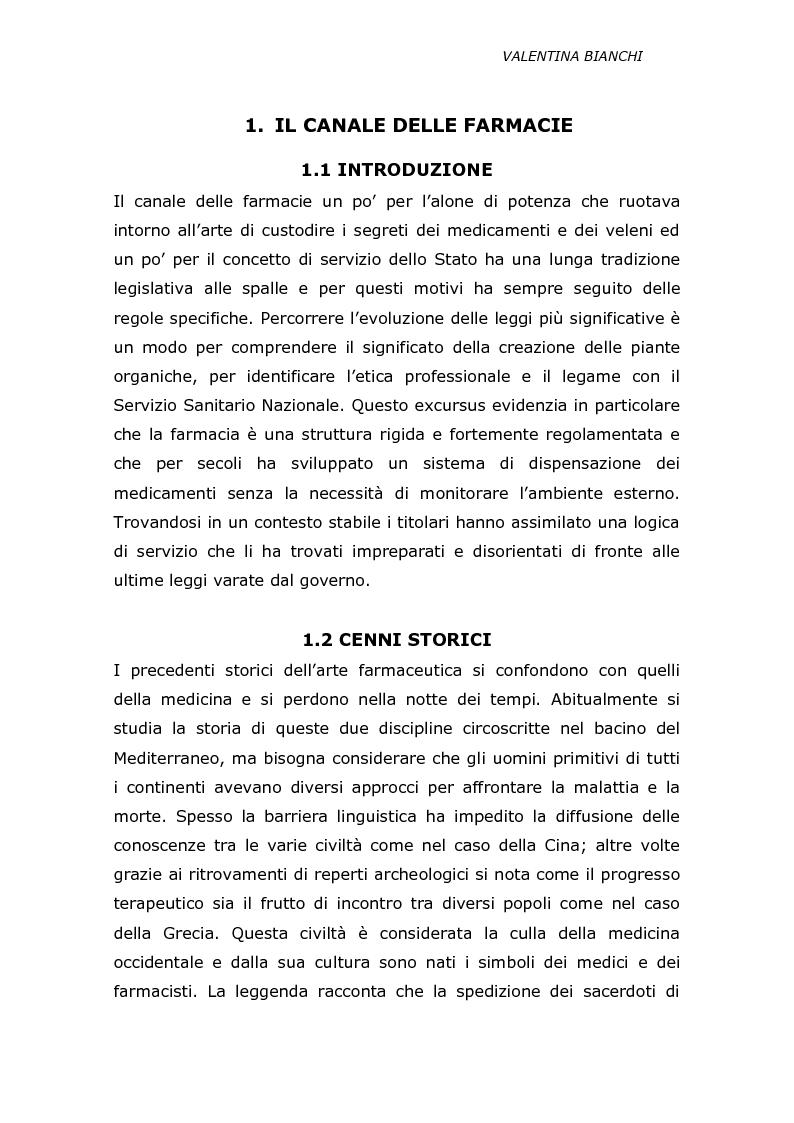 Anteprima della tesi: Evoluzione della farmacia: liberalizzazione e retail marketing, Pagina 4