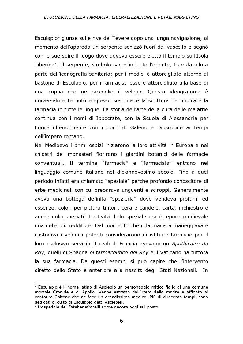 Anteprima della tesi: Evoluzione della farmacia: liberalizzazione e retail marketing, Pagina 5
