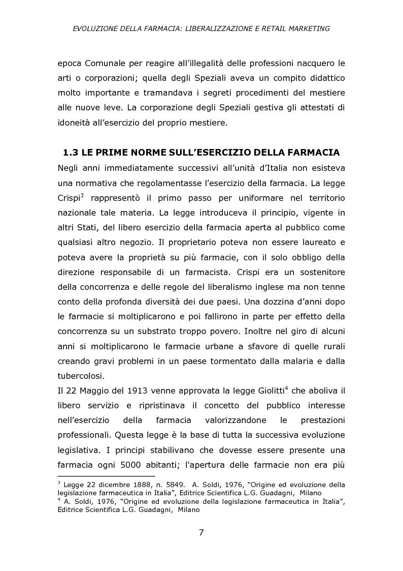 Anteprima della tesi: Evoluzione della farmacia: liberalizzazione e retail marketing, Pagina 6