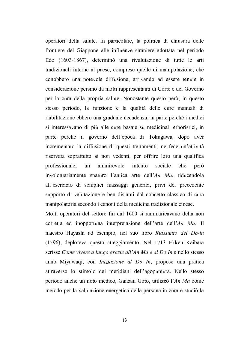 Anteprima della tesi: Concezioni della corporeità e del benessere psicofisico: esperienze di formazione di uno shiatsuka, Pagina 12