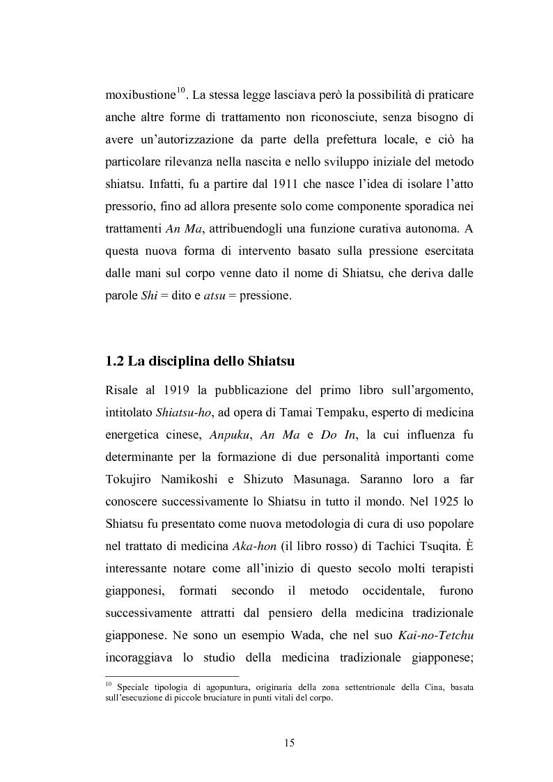 Anteprima della tesi: Concezioni della corporeità e del benessere psicofisico: esperienze di formazione di uno shiatsuka, Pagina 14