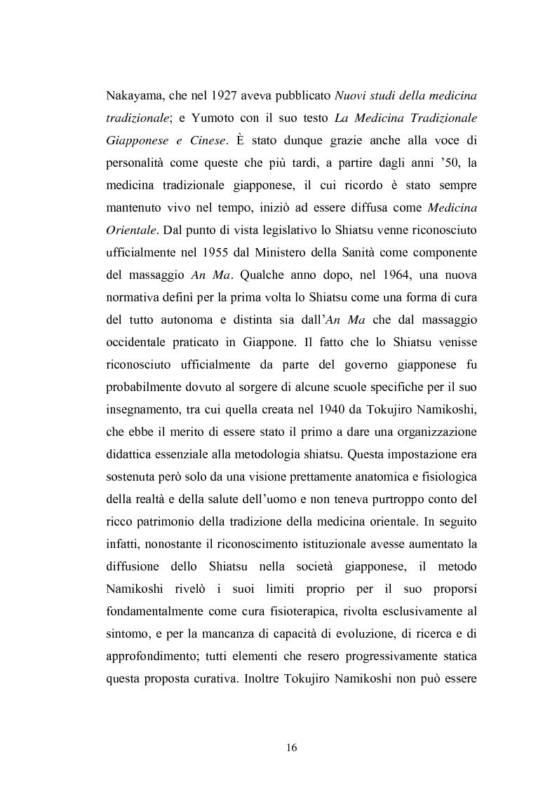 Anteprima della tesi: Concezioni della corporeità e del benessere psicofisico: esperienze di formazione di uno shiatsuka, Pagina 15