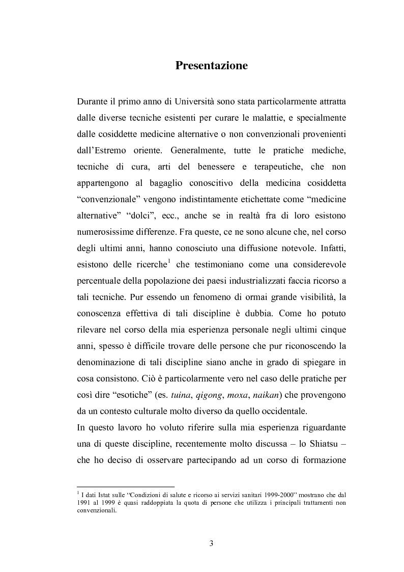 Anteprima della tesi: Concezioni della corporeità e del benessere psicofisico: esperienze di formazione di uno shiatsuka, Pagina 2