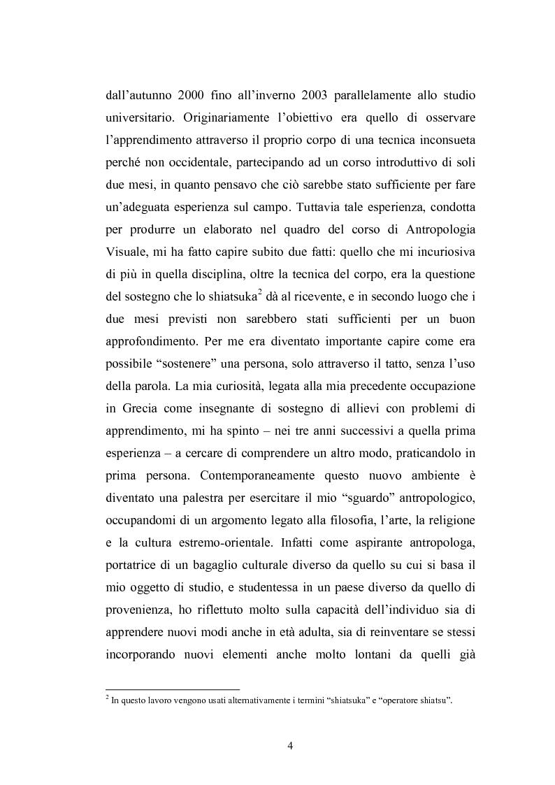 Anteprima della tesi: Concezioni della corporeità e del benessere psicofisico: esperienze di formazione di uno shiatsuka, Pagina 3