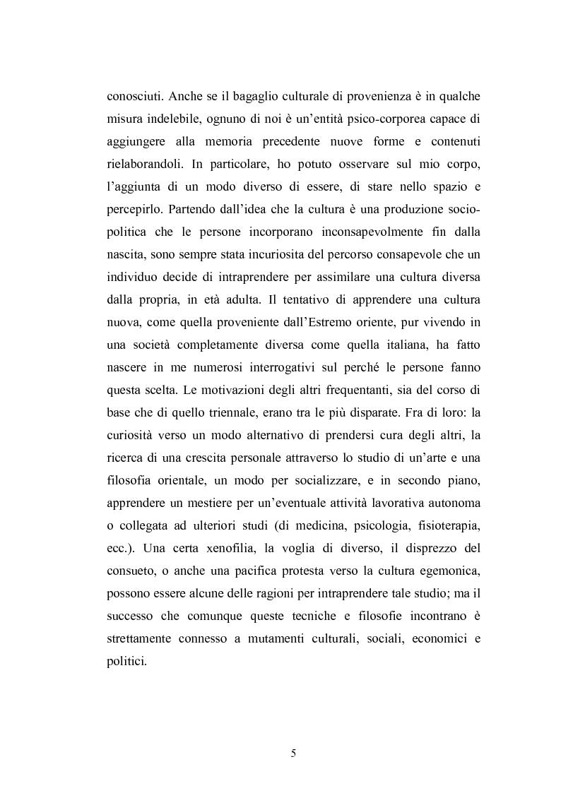 Anteprima della tesi: Concezioni della corporeità e del benessere psicofisico: esperienze di formazione di uno shiatsuka, Pagina 4